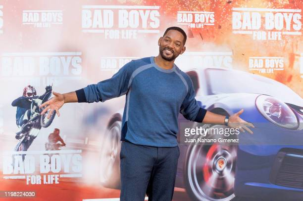 Will Smith attends 'Bad Boys For Live' photocall at Villamagna Hotel on January 08, 2020 in Madrid, Spain.