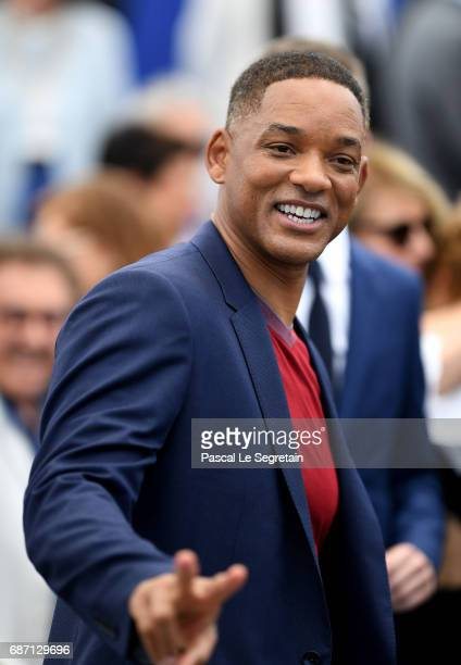 Will Smith attends the 70th Anniversary Photocall during the 70th annual Cannes Film Festival at Palais des Festivals on May 23 2017 in Cannes France