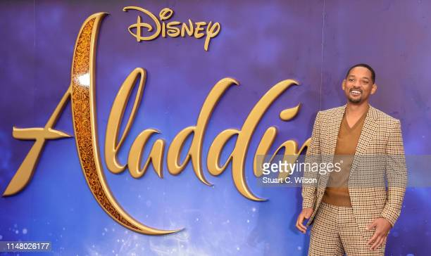 Will Smith attends the Aladdin European Gala at Odeon Luxe Leicester Square on May 09 2019 in London England