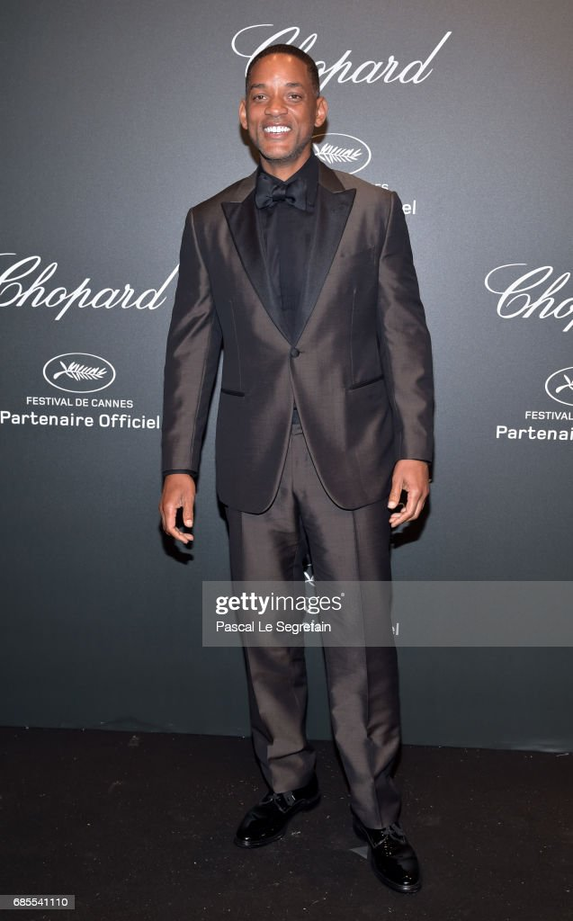 "Will Smith attends the Chopard ""SPACE Party"", hosted by Chopard's co-president Caroline Scheufele and Rihanna, at Port Canto on May 19, 2017, in Cannes, France."