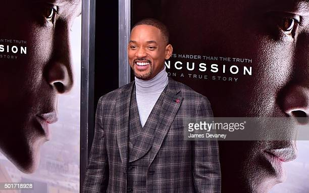 Will Smith attends the 'Concussion' premiere at AMC Loews Lincoln Square on December 16 2015 in New York City
