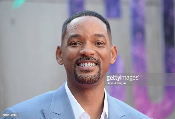 """Will Smith attends the European Premiere of """"Suicide Squad"""" at Odeon Leicester Square on August 3, 2016 in London, England."""