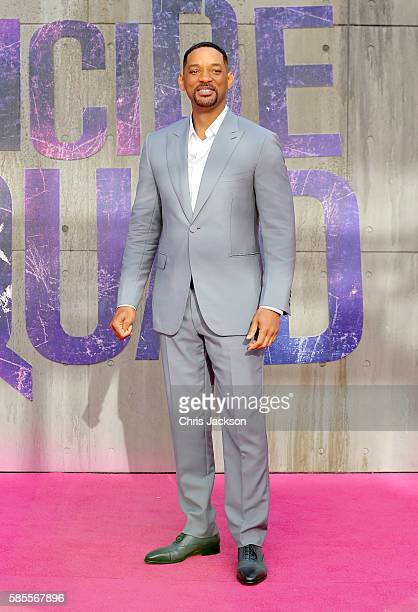 Will Smith attends the European Premiere of 'Suicide Squad' at the Odeon Leicester Square on August 3 2016 in London England