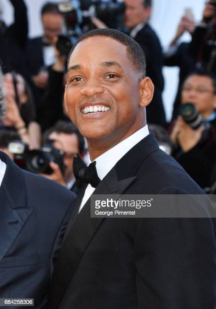 Will Smith attends the 'Ismael's Ghosts ' screening and Opening Gala during the 70th annual Cannes Film Festival at Palais des Festivals on May 17...