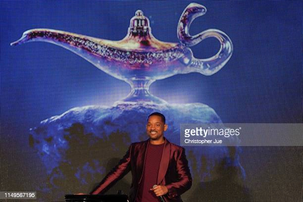 Will Smith attends the parade for 'Aladdin' Japan premiere on May 16 2019 in Tokyo Japan