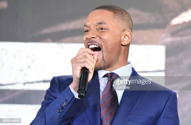 Will Smith attends the premier event of 'Bright' at Roppongi Hills on December 19 2017 in Tokyo Japan