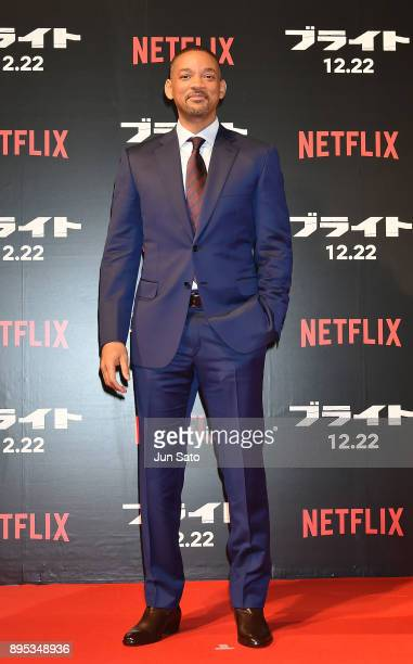 Will Smith attends the premier event of 'Bright' at Roppongi Hills on December 19, 2017 in Tokyo, Japan.