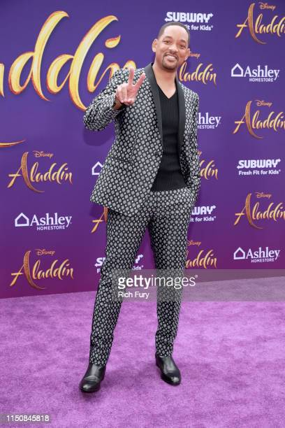 Will Smith attends the premiere of Disney's Aladdin on May 21 2019 in Los Angeles California