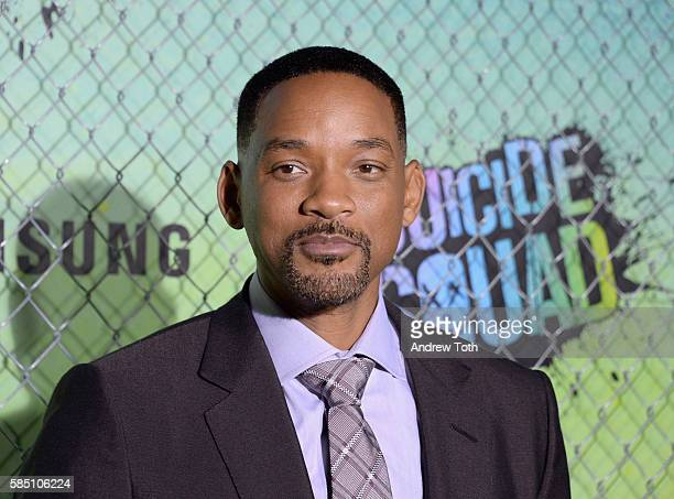 """Will Smith attends the """"Suicide Squad"""" World Premiere at The Beacon Theatre on August 1, 2016 in New York City."""