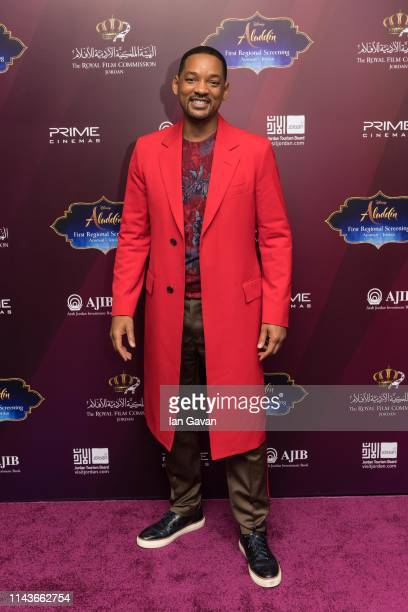 """Will Smith attends the VIP Screening of """"Aladdin"""" with Jordanian Royal Family, as part of the """"Aladdin"""" Magic Carpet World Tour on May 13, 2019 in..."""