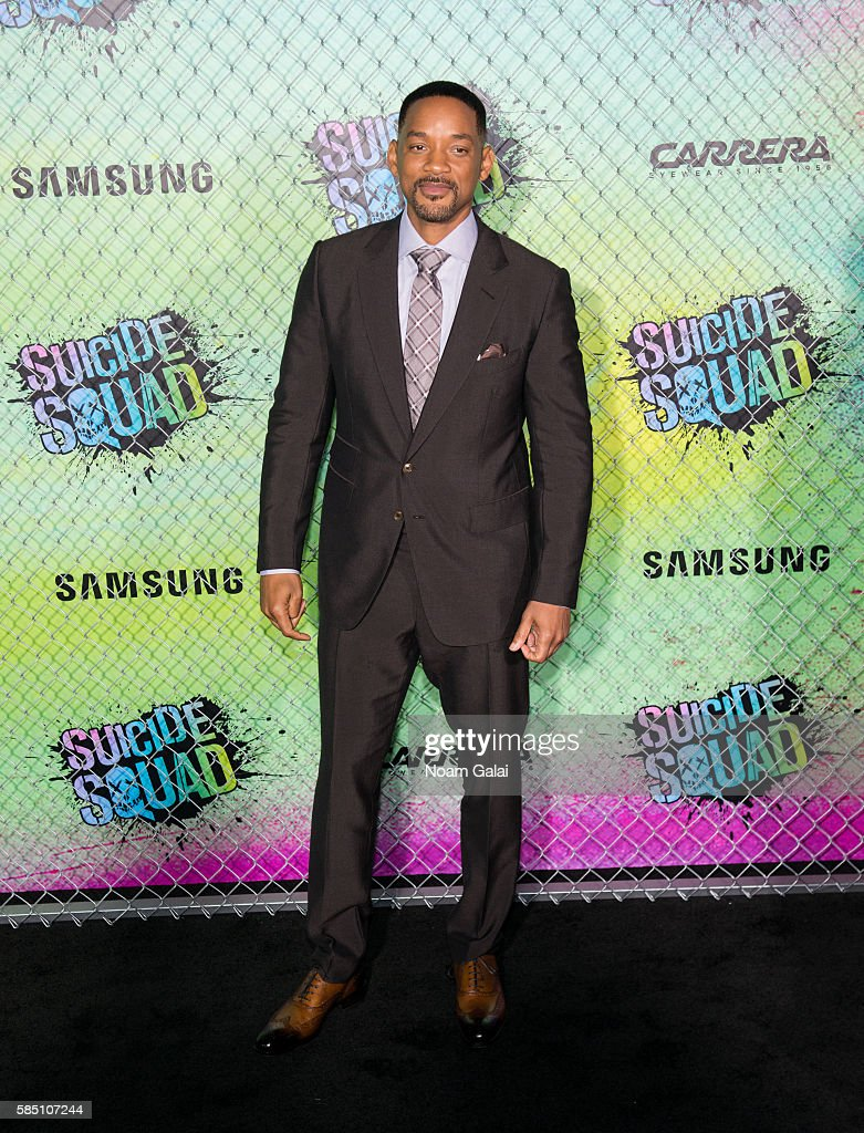 Will Smith attends the world premiere of 'Suicide Squad' at The Beacon Theatre on August 1, 2016 in New York City.