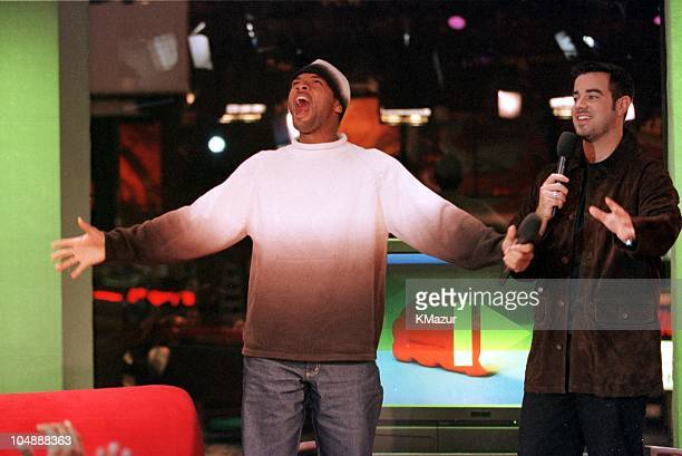 """Will Smith & Carson Daly during Will Smith Visits MTV's """"TRL"""" - October 31, 1999 at MTV Studios in Times Square in New York City, New York, United..."""