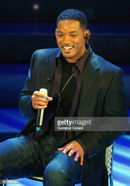 Will Smith dressed by Dolce Gabbana attendsthe third day of the San Remo Festival at the Ariston Theatre on March 3 2005 in San Remo Italy The five...