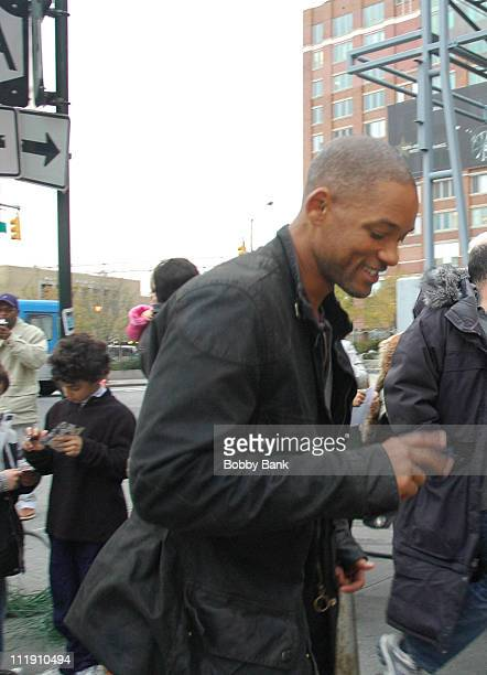 Will Smith during Will Smith on Location Filming I Am Legend in New York City New York United States