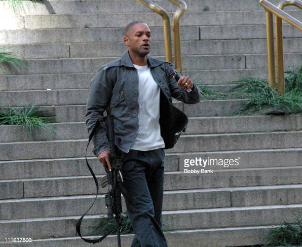 Will Smith during Will Smith on Location for I Am Legend in New York City March 12 2007 at Metropolitan Museum in New York City New York United States