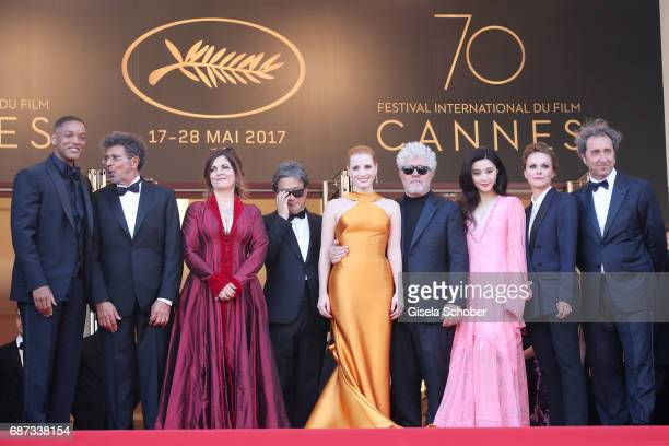 Will Smith Gabriel Yared Agnes Jaoui Park Chanwook Jessica Chastain Pedro Almodovar Fan Bingbing Maren Ade Paolo Sorrentino attend the 70th...