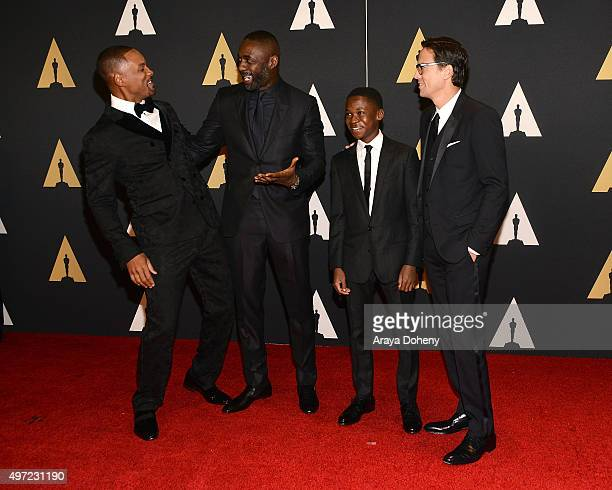 Will Smith Idris Elba Abraham Attah and Cary Joji Fukunaga attend the Academy of Motion Picture Arts and Sciences' 7th Annual Governors Awards at The...