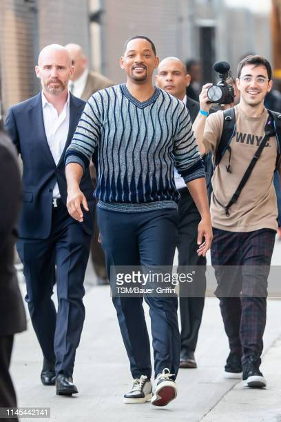 Will Smith is seen arriving at 'Jimmy Kimmel Live' on May 21 2019 in Los Angeles California