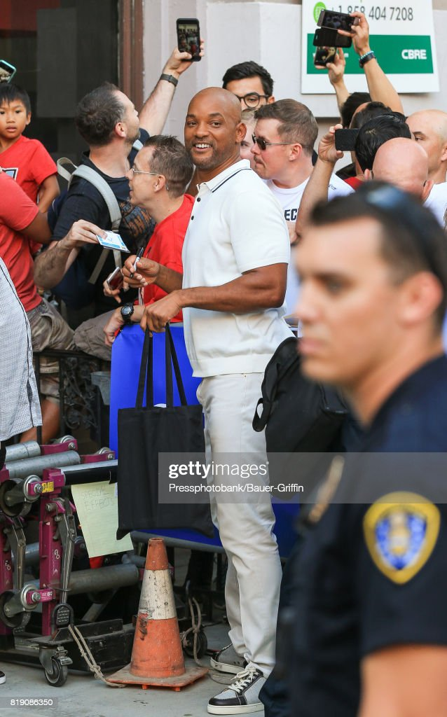 Will Smith is seen at 'Conan' at Comic Con on July 19, 2017 in San Diego, California.