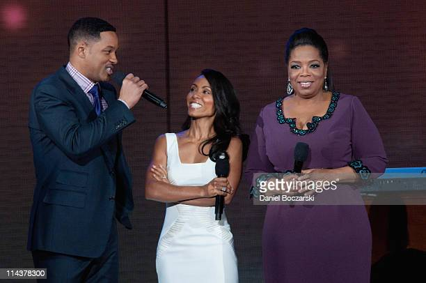 Will Smith, Jada Pinkett Smith and Oprah attend Surprise Oprah! A Farewell Spectacular at the United Center on May 17, 2011 in Chicago, Illinois.