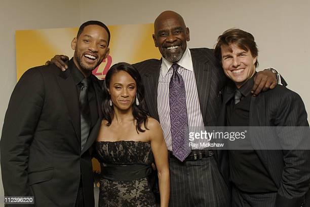Will Smith Jada Pinkett Smith Chris Gardner and Tom Cruise