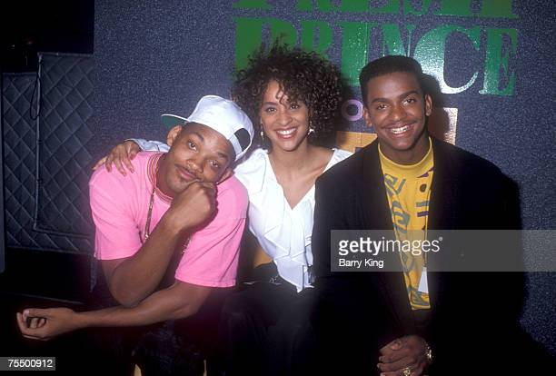 Will Smith Karyn Parsons and Alfonso Ribeiro in Los Angeles California