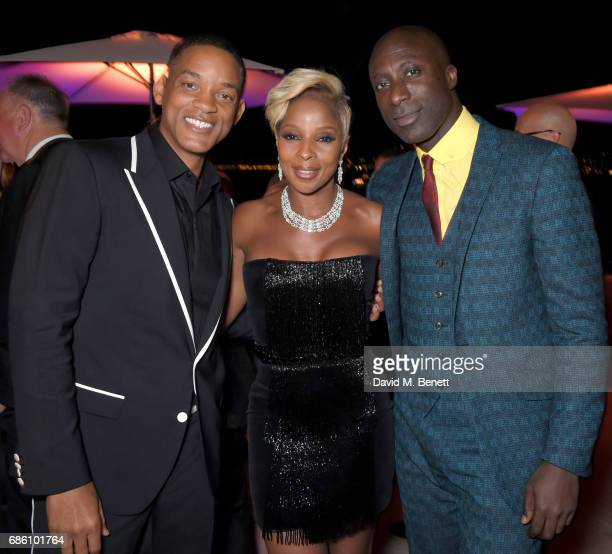 Will Smith Mary J Blige and Ozwald Boateng attend the Vanity Fair and Chopard Party celebrating the Cannes Film Festival at Hotel du CapEdenRoc on...