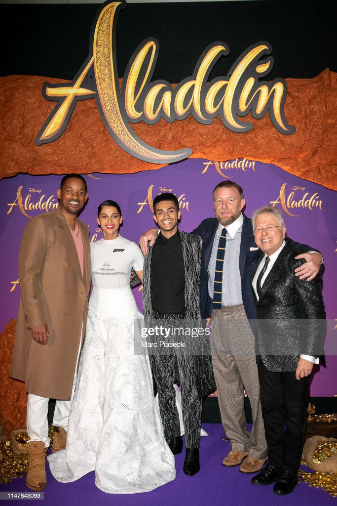 """Aladdin"" Paris Gala Screening : Photocall At Le Grand Rex In Paris : News Photo"