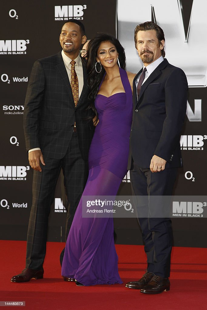 Will Smith, Nicole Scherzinger and Josh Brolin arrive for the Men In Black 3 Germany Premiere at O2 World on May 14, 2012 in Berlin, Germany.