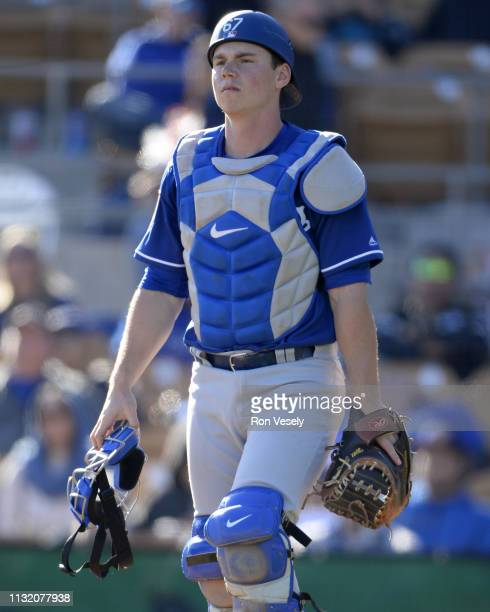 Will Smith of the Los Angeles Dodgers looks on against the Chicago White Sox on February 23 2019 at Camelback Ranch in Glendale Arizona