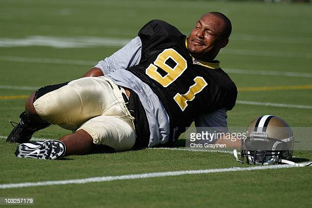 Will Smith of the New Orleans Saints during the first day of Training Camp on July 30 2010 in Metairie Louisiana