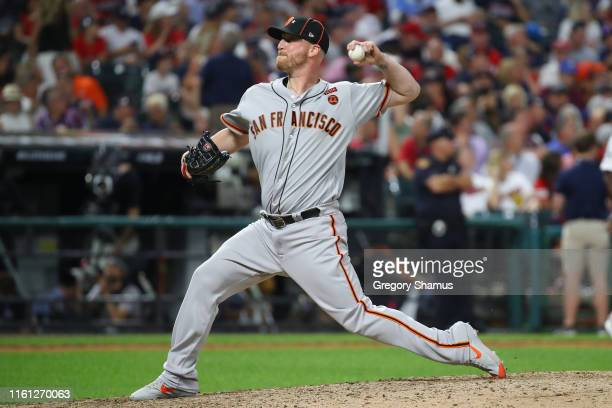 Will Smith of the San Francisco Giants participates in the 2019 MLB AllStar Game at Progressive Field on July 09 2019 in Cleveland Ohio