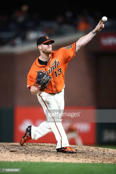 Will Smith of the San Francisco Giants pitches against the Arizona Diamondbacks in the ninth inning at Oracle Park on June 28 2019 in San Francisco...