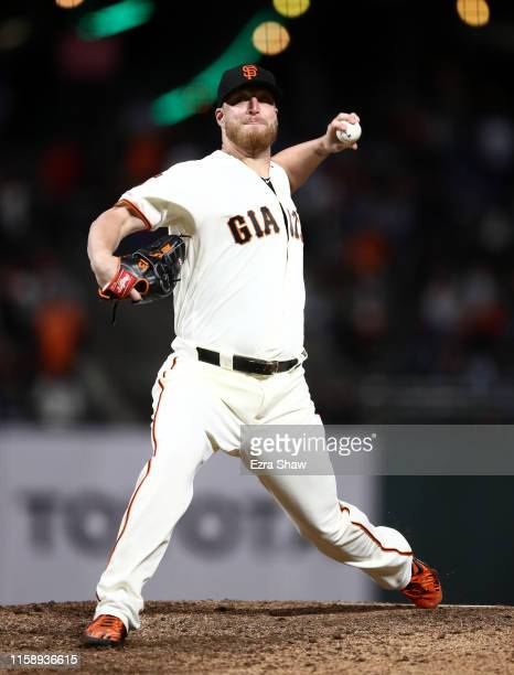 Will Smith of the San Francisco Giants pitches against the Colorado Rockies at Oracle Park on June 25 2019 in San Francisco California
