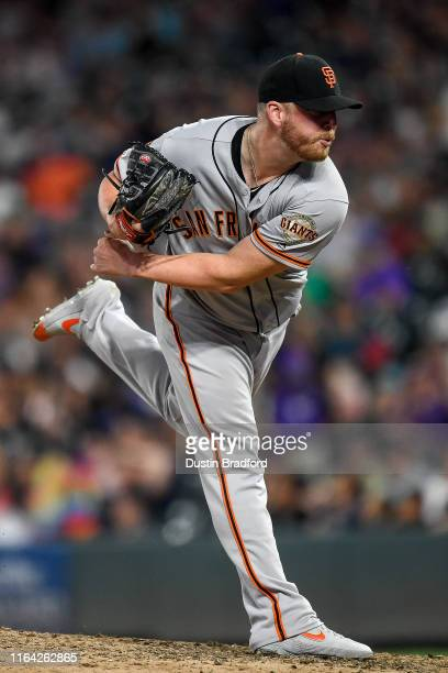Will Smith of the San Francisco Giants pitches against the Colorado Rockies at Coors Field on July 16 2019 in Denver Colorado