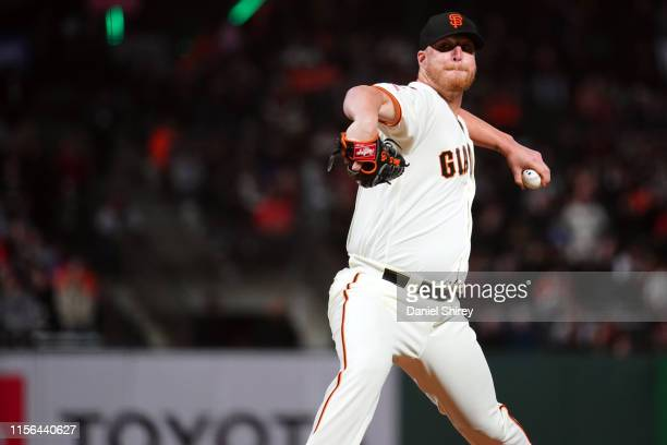 Will Smith of the San Francisco Giants pitches against the New York Mets at Oracle Park on Thursday July 18 2019 in San Francisco California