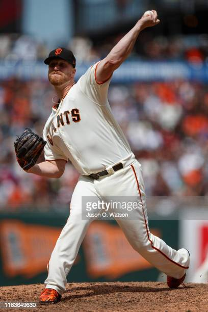 Will Smith of the San Francisco Giants pitches against the New York Mets during the ninth inning at Oracle Park on July 21 2019 in San Francisco...