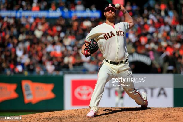 Will Smith of the San Francisco Giants pitches during the ninth inning against the Cincinnati Reds at Oracle Park on May 12 2019 in San Francisco...