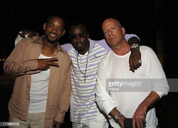 Will Smith Sean 'P Diddy' Combs and Bruce Willis