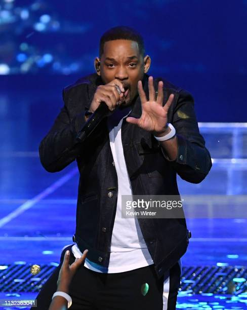 Will Smith speaks onstage at Nickelodeon's 2019 Kids' Choice Awards at Galen Center on March 23 2019 in Los Angeles California