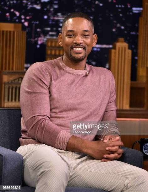 Will Smith Visits 'The Tonight Show Starring Jimmy Fallon' at Rockefeller Center on March 22 2018 in New York City
