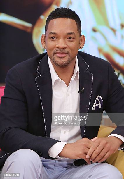 Will Smith visits Univision's Despierta America to promote their film 'After Earth' at Univision Headquarters on May 16 2013 in Miami Florida