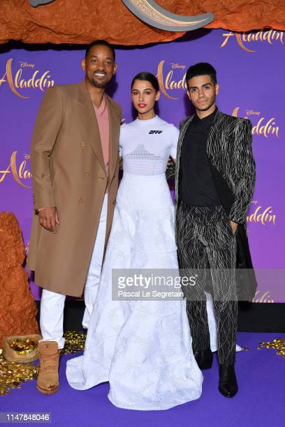 Will SmithNaomi Scott and Mena Massoud attend the Aladdin gala screening at Le Grand Rex on May 08 2019 in Paris France