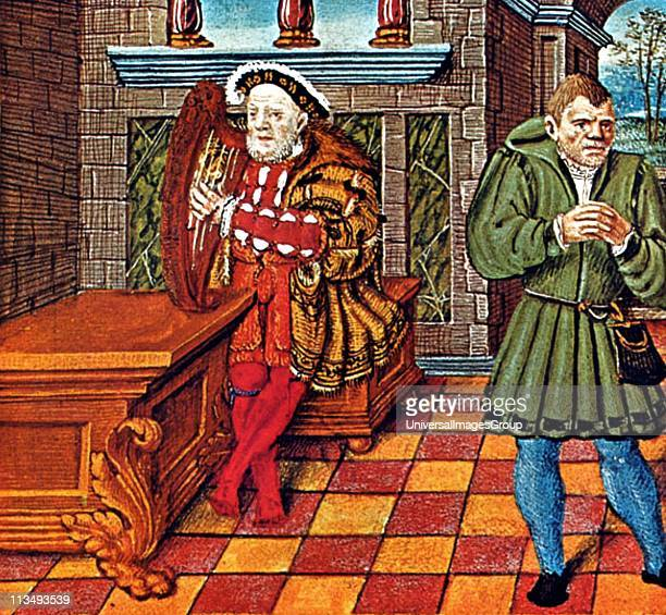 Will Somers Henry VIII's fool and Henry playing the harp from Henry's Psalter British Museum Henry VIII was King of England from 21 April 1509 until...