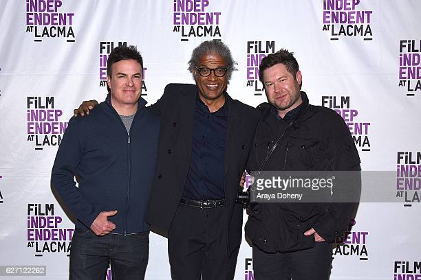Will Speck Elvis Mitchell and Josh Gordon attend the Film Independent at LACMA hosts Office Christmas Party screening and QA at LACMA on December 1...