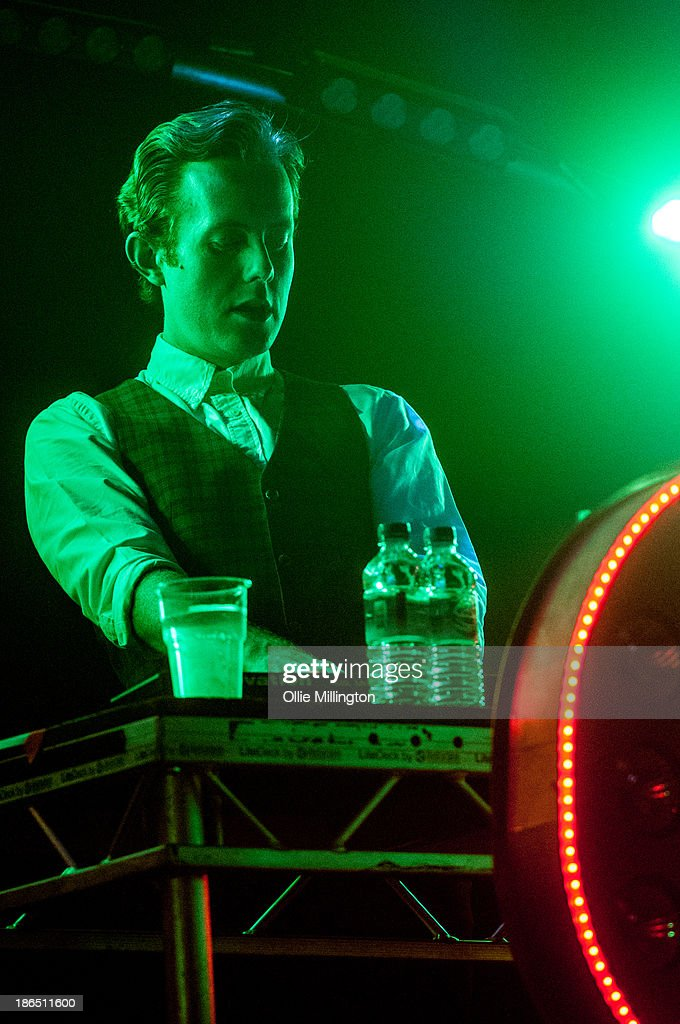 Will 'Status' Kennard of Chase & Status performs on stage during the opening night of the Brand New Machine November 2013 UK Arena Tour at Nottingham Capital FM Arena on October 31, 2013 in Nottingham, England.