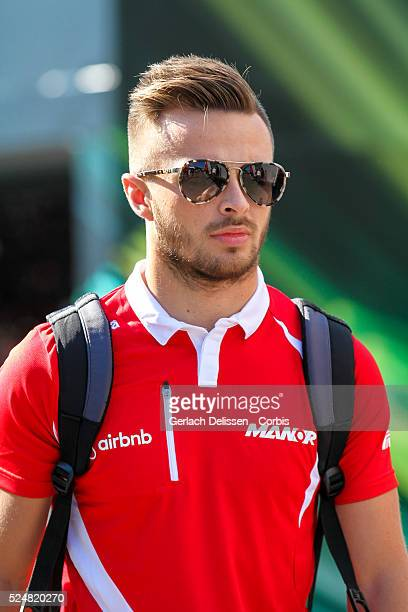 Will Stevens driving for the Manor Marussia F1 Team in the paddock during the 2015 Formula 1 Shell Belgian Grand Prix at Circuit de SpaFrancorchamps...