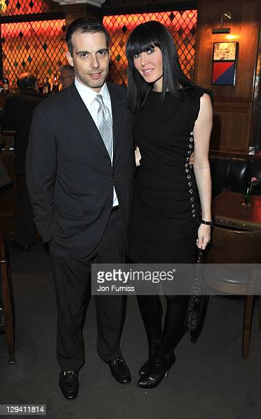 Will Stoppard and Linzi Stoppard attends the 20th anniversary of the famous restaurant at The Ivy on November 9 2010 in London England