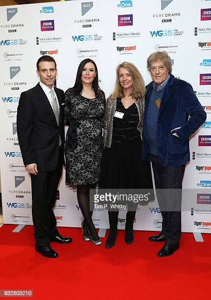 Will Stoppard Linzi Stoppard Sabrina Guiness and Tom Stoppard attend The Writers' Guild Awards at Royal College Of Physicians on January 23 2017 in...