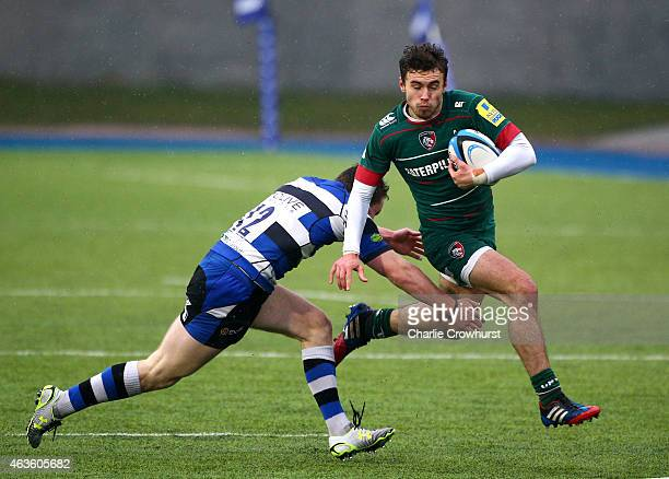 Will Sutton of Leicester looks to attack during the Premiership Rugby/RFU U18 Academy Finals Day match between Leicester Tigers and Bath at The...